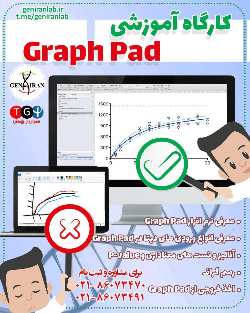 کارگاه Graph pad